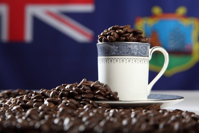 Alcohol-infused gourmet coffee beans mugs