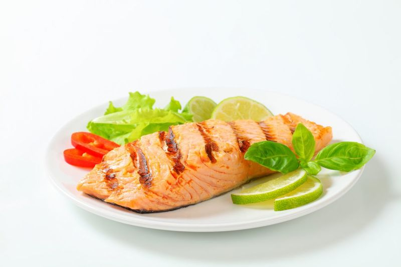 Healthy fats omega-3 salmon mackerel