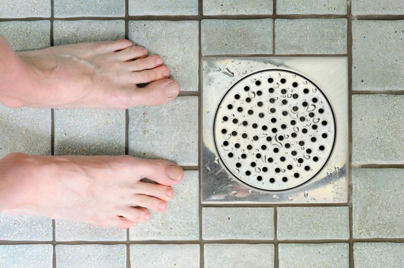 barefoot shower pool