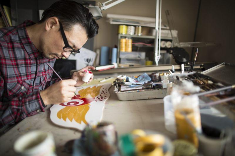 man painting creative passion
