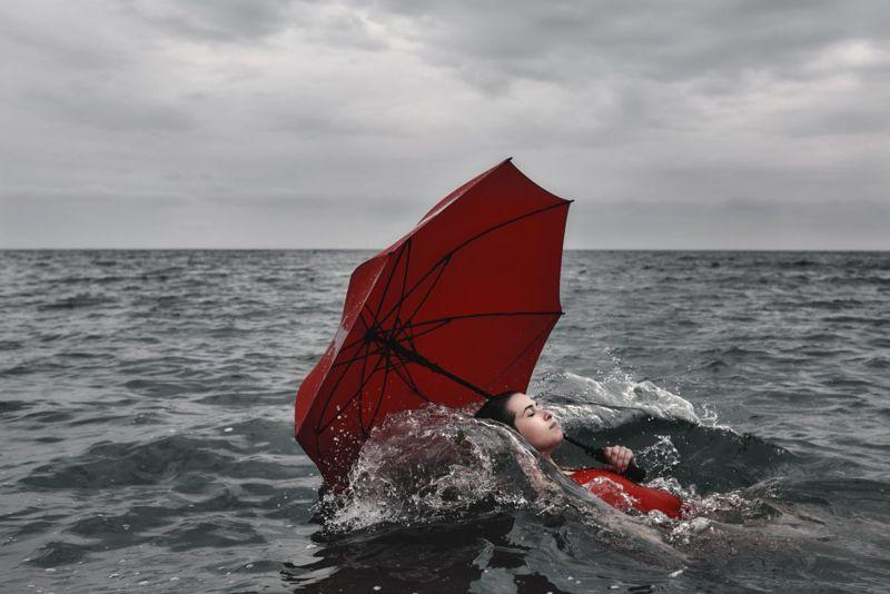 vivid lifelike alcohol swimming
