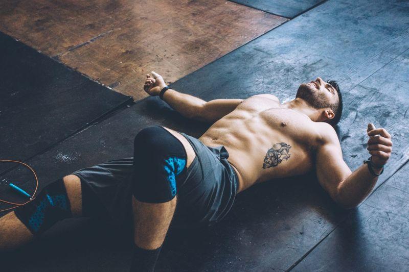 tired man workout