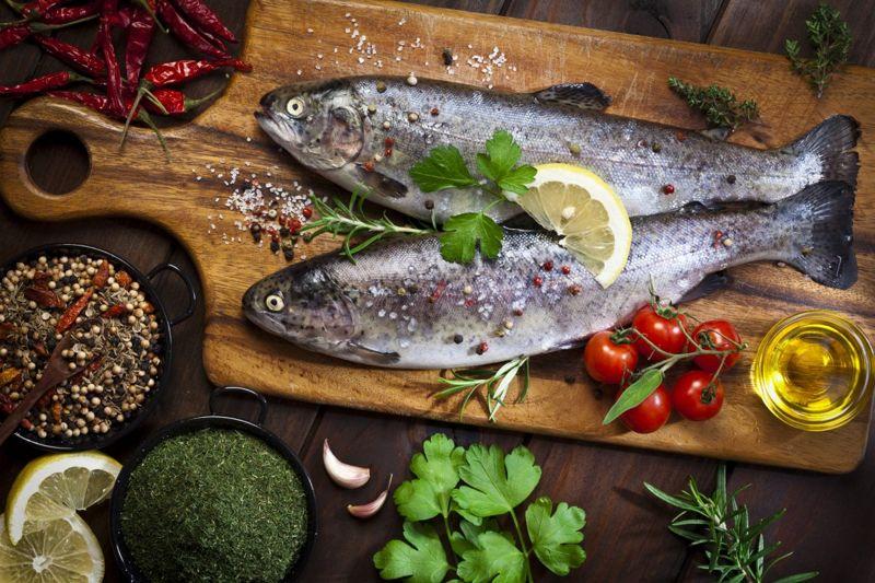 trout omega-3 B12 vitamin D