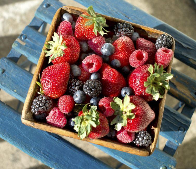 strawberry blueberry raspberry