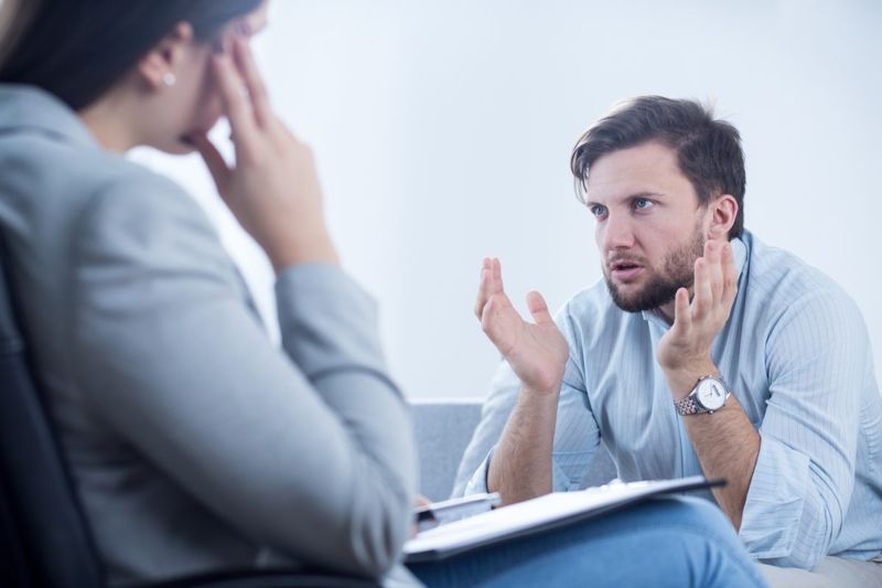 angry man counseling