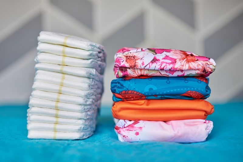 You can use both cloth and disposable diapers on your baby.