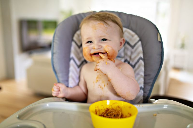 spoon-fed eating high chair