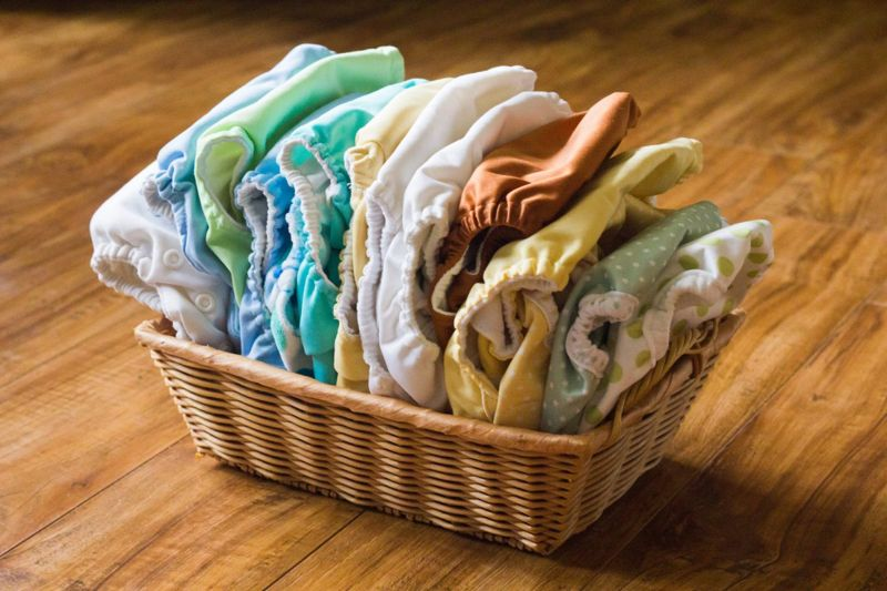 There are many different types of cloth diapers to choose from.