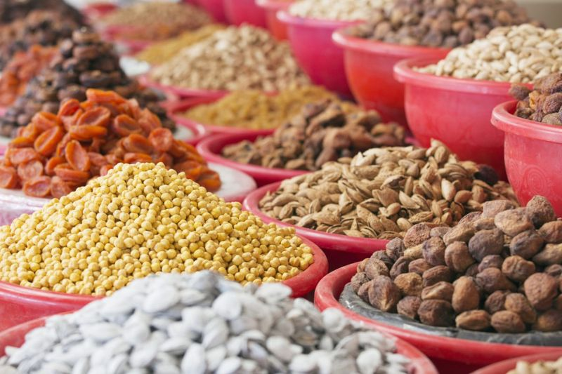 tree nuts, seeds, chia, roasted,