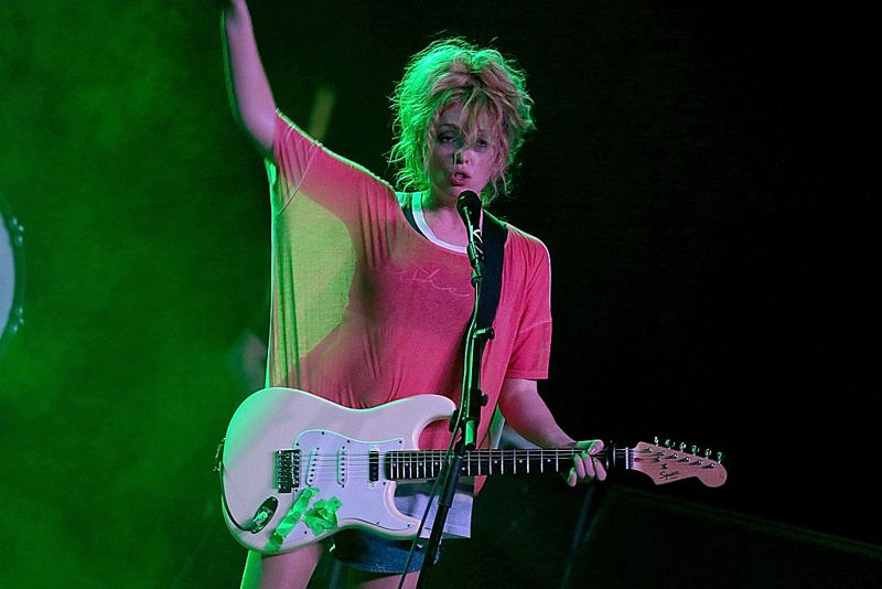 Kate White of Ting Tings performs in concert at Emo's on April 22, 2015 in Austin, Texas.
