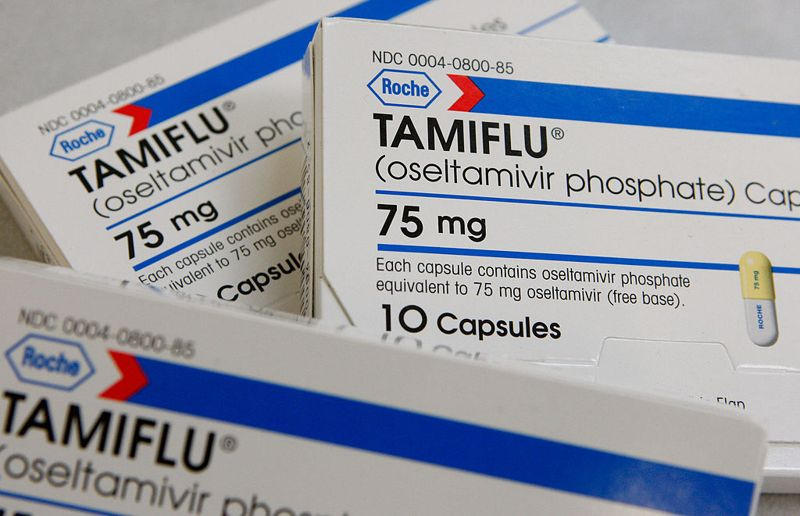 SAN ANSELMO, CA - NOVEMBER 28: Boxes of Tamiflu are displayed at Jack's Pharmacy November 28, 2007 in San Anselmo, California. Drugmaker Roche accepted a recommendation from the U.S. Food and Drug Adminstration to have a stronger warning label on the flu medication after nearly 600 psychiatric cases have been reported by people using Tamiflu.