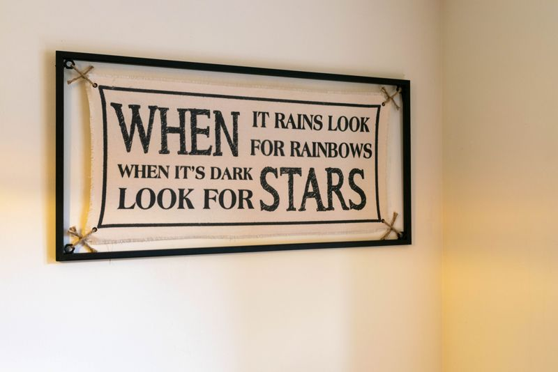 Inspiration quote When It Rains Look For Rainbows When Its Dark Look For Stars.