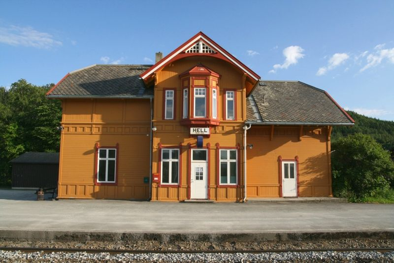 Hell Railway Station in Hell, a Norwegian village near Trondheim