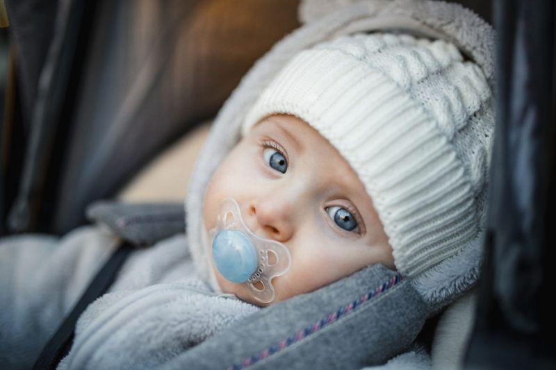 Baby bundled up