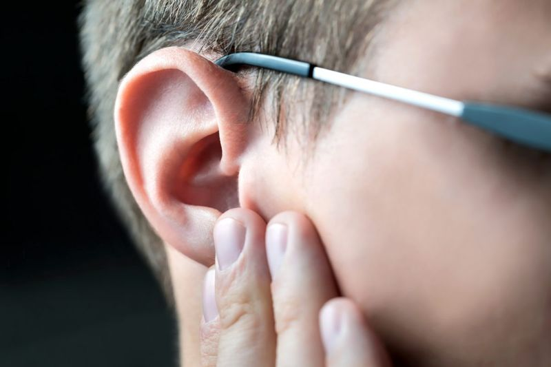 Person with earache