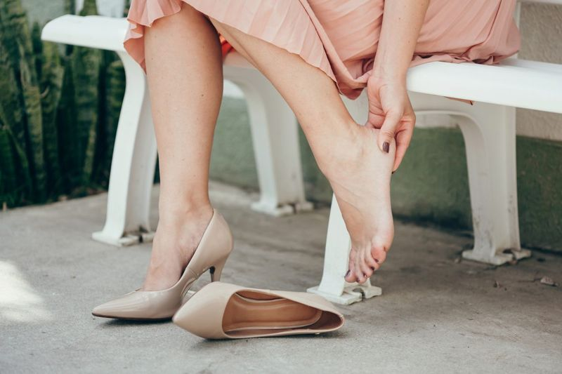 woman shoes pain blister