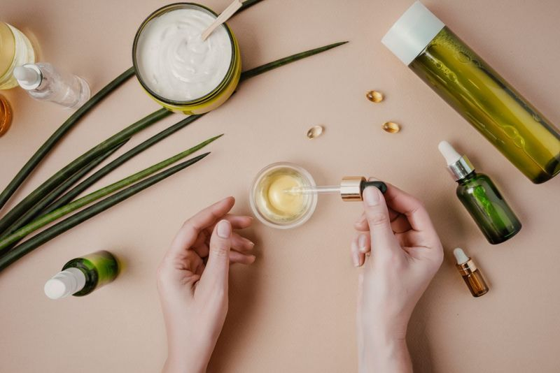 Cosmetics and oils