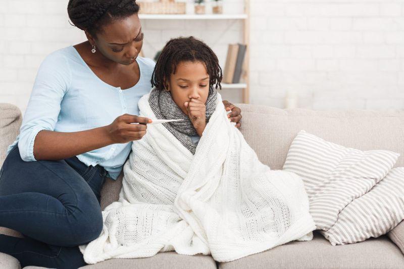 child sick flu