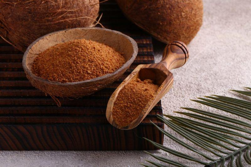 Fine textured coconut sugar.