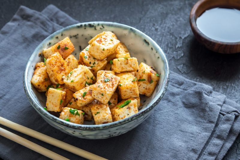 Tofu is heart-healthy and l-lysine rich.