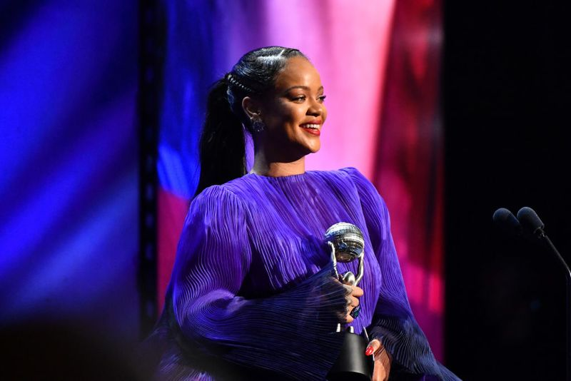PASADENA, CALIFORNIA - FEBRUARY 22: Rihanna accepts the President's Award onstage during the 51st NAACP Image Awards, Presented by BET, at Pasadena Civic Auditorium on February 22, 2020 in Pasadena, California. (Photo by Paras Griffin/Getty Images for BET)