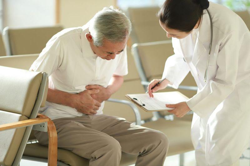 doctor patient stomachache