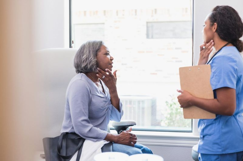 older woman dermatologist