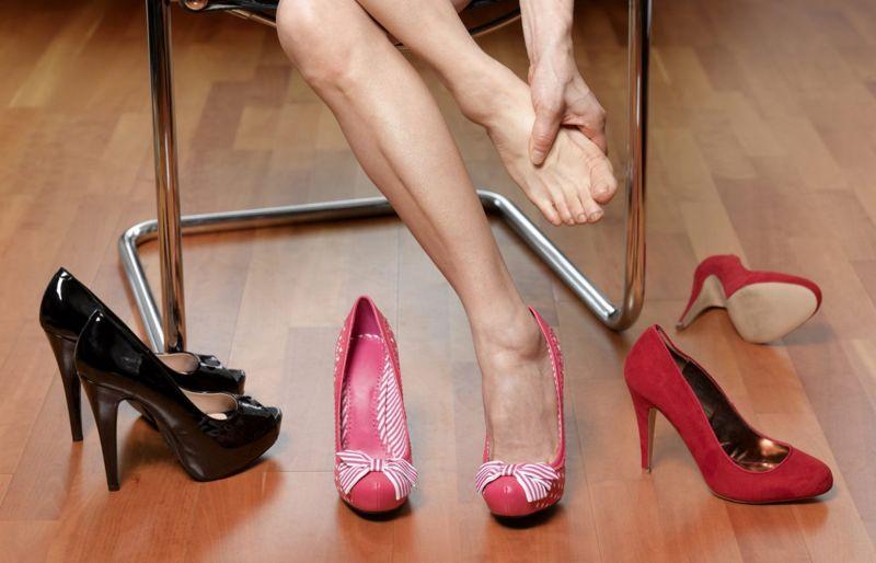 high heels foot pain