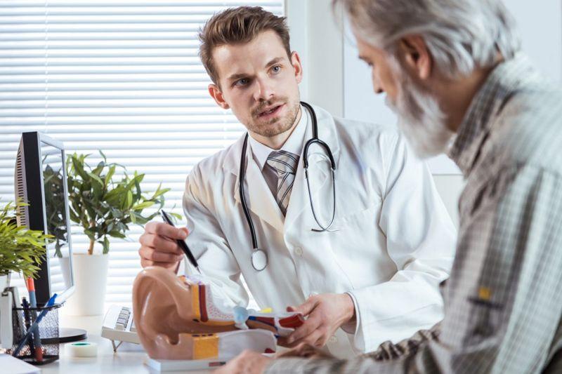 doctor explaining ear issues