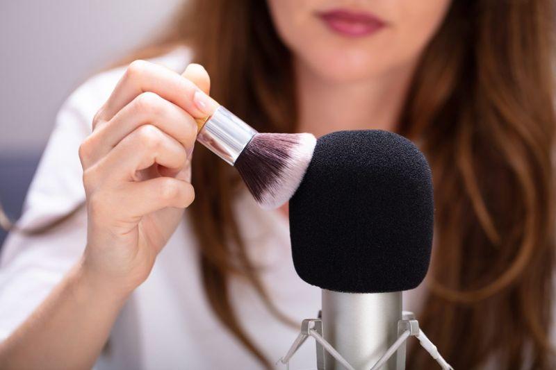 woman microphone asmr