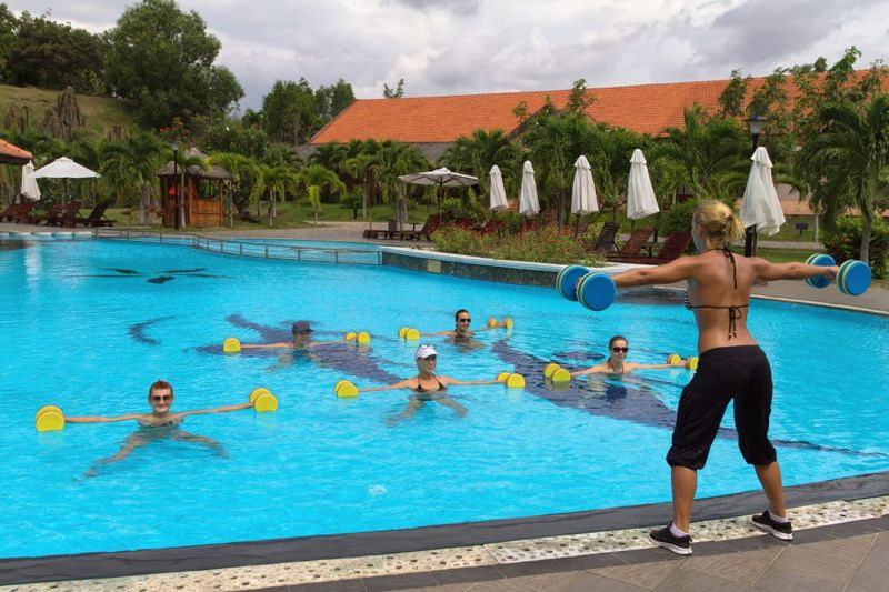 Water aerobics is a low-impact exercise.