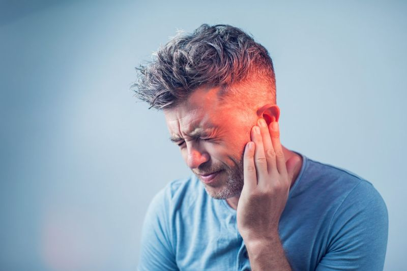 A ruptured eardrum may cause pain.