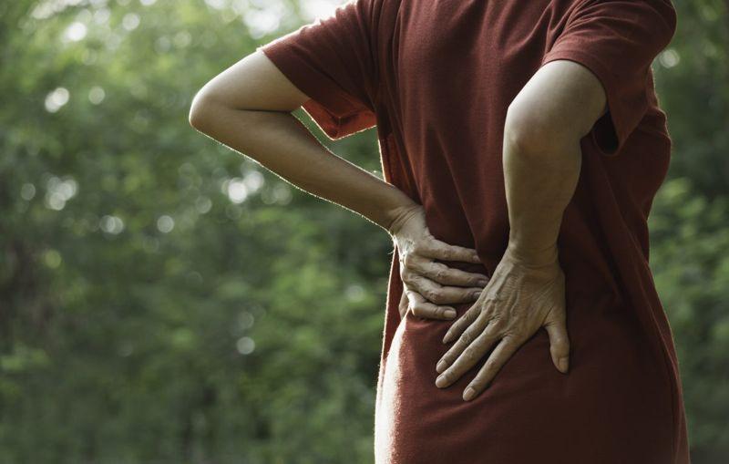 woman lumbar pain