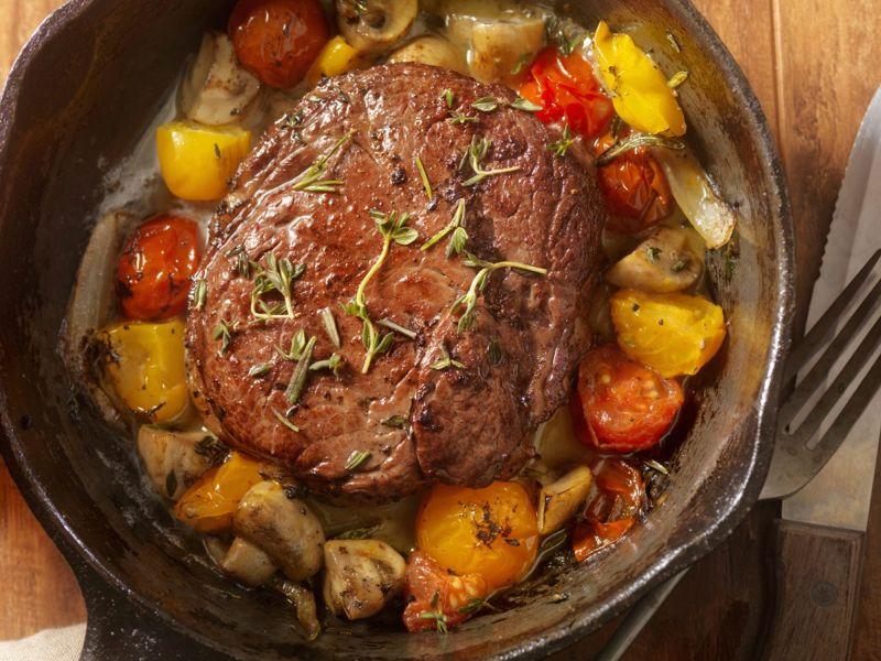 protein grass fed beef steak