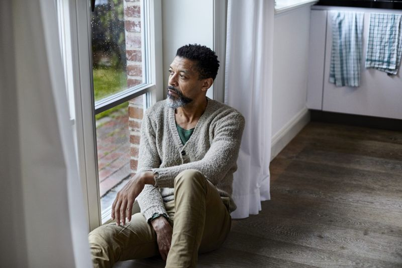 man sitting anxiety depression