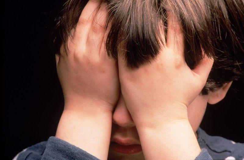 worried afraid tense anxiety child
