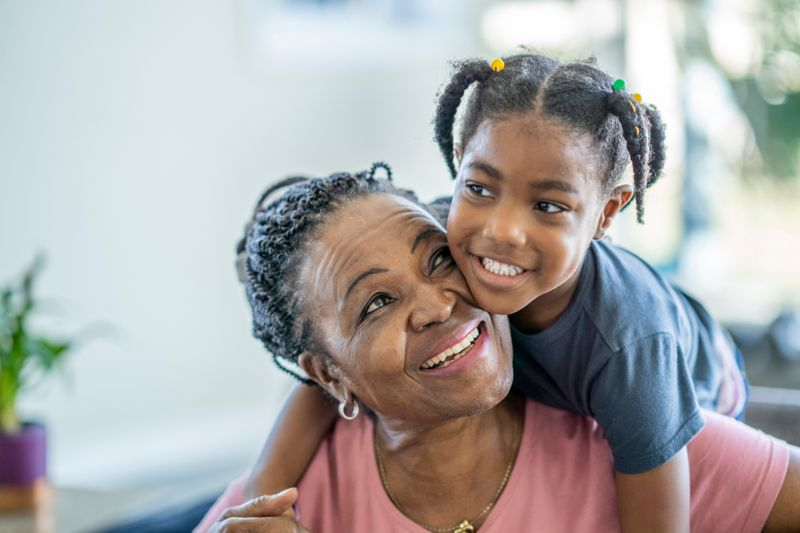 Portrait of a senior woman spending quality time with her adorable granddaughter.