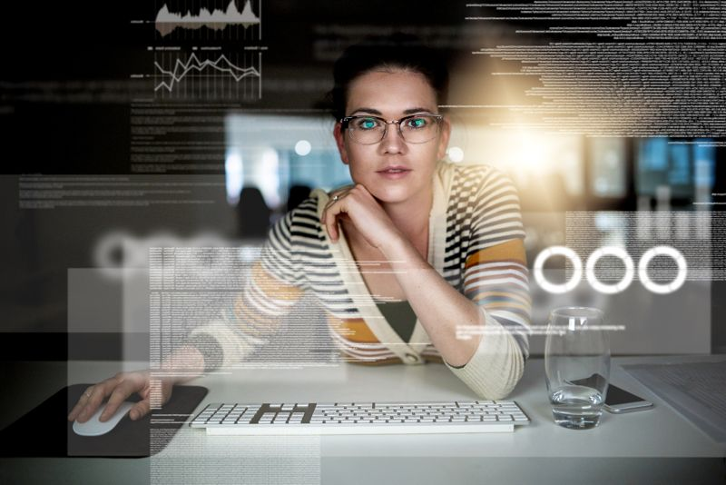 Cropped shot of a computer programmer working on new code