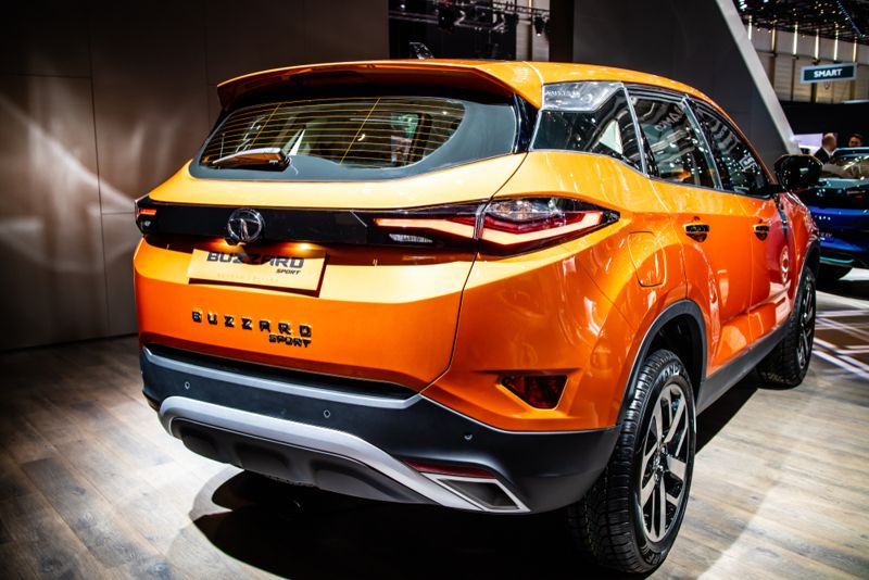 Tata Buzzard Sport (Harrier) at Geneva International Motor Show, five-seater mid-size SUV produced by the Indian automaker Tata Motors