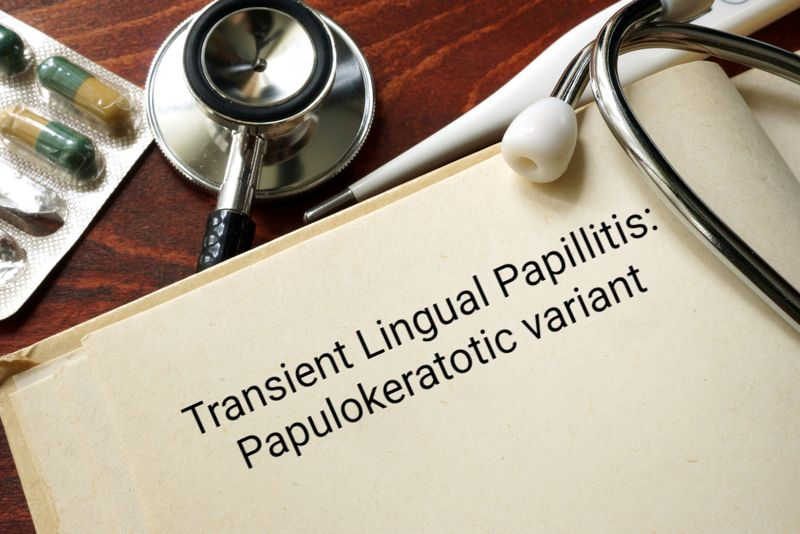 medical concept transient lingual papillitis papulokeratotic variant