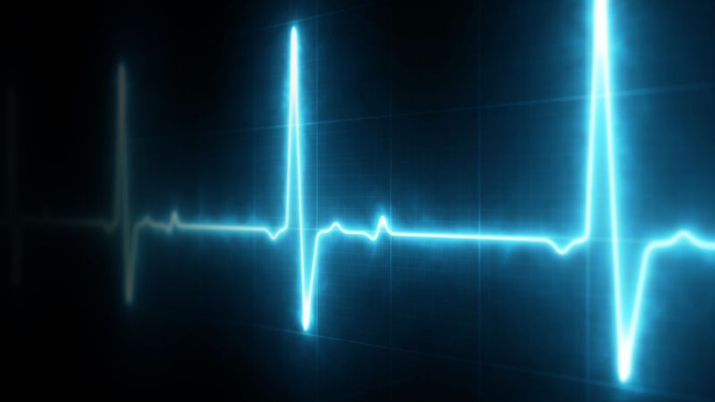 heart beat pulse reading on screen