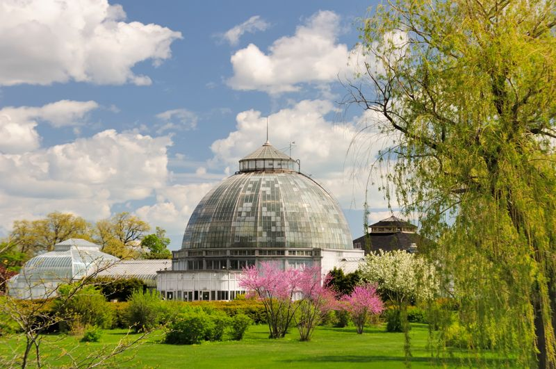 The historic and beautiful Belle Isle Conservatory in Detroit, Michigan..