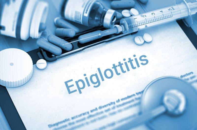 epiglottitis diagnosis chart concept