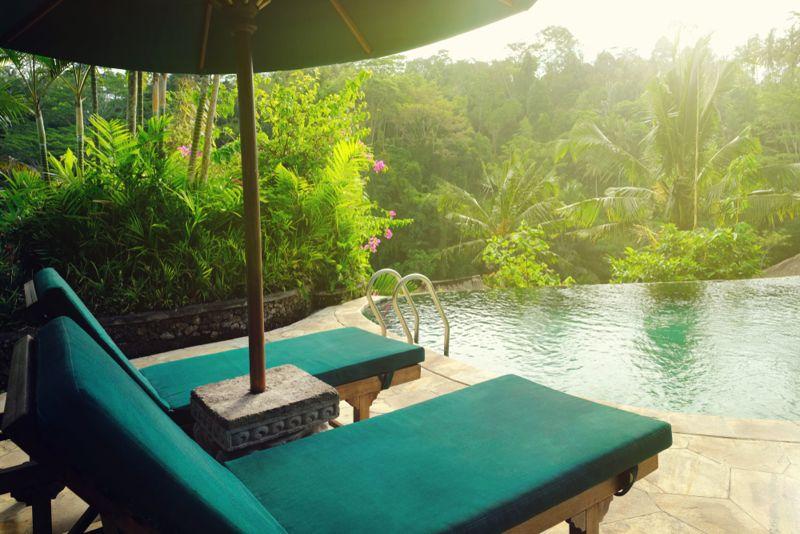tropical oasis get away concept