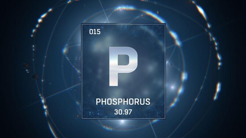 digital illustration of phosphorus element