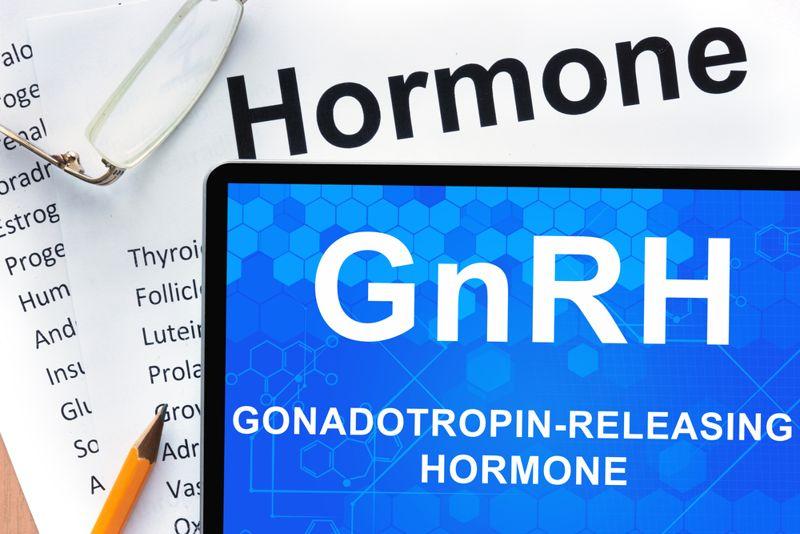 digital illustration gonadotropin-releasing hormone concept