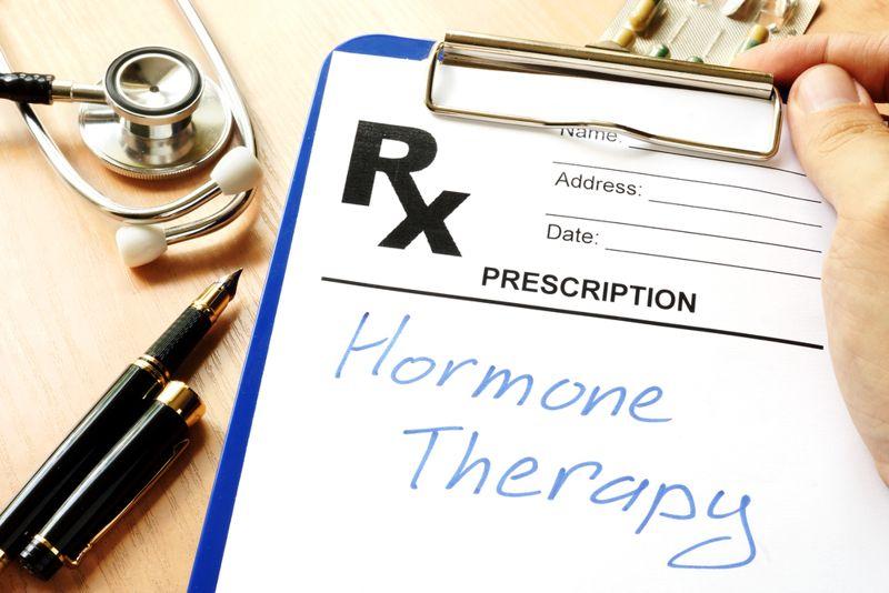doctor prescription concept for hormone therapy