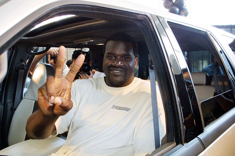 393582 02: Basketball star Shaquille O''Neal poses at the unveiling of his new Shaq SST Expedition Superstar-Designed Vehicle August 23, 2001 at a Ford dealership in Beverly Hills, California. The car is the first of 500 sequentially-numbered Shaq SST Expeditions from Signature Edition Auto Manufacturer AutoOZ.