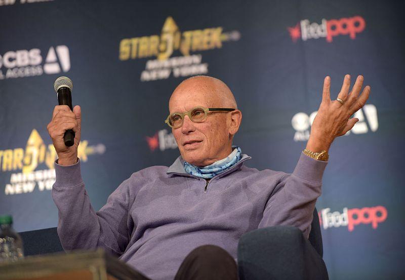 Peter Weller speaks during the Star Trek: Mission New York event at Javits Center on September 3, 2016 in New York City. (