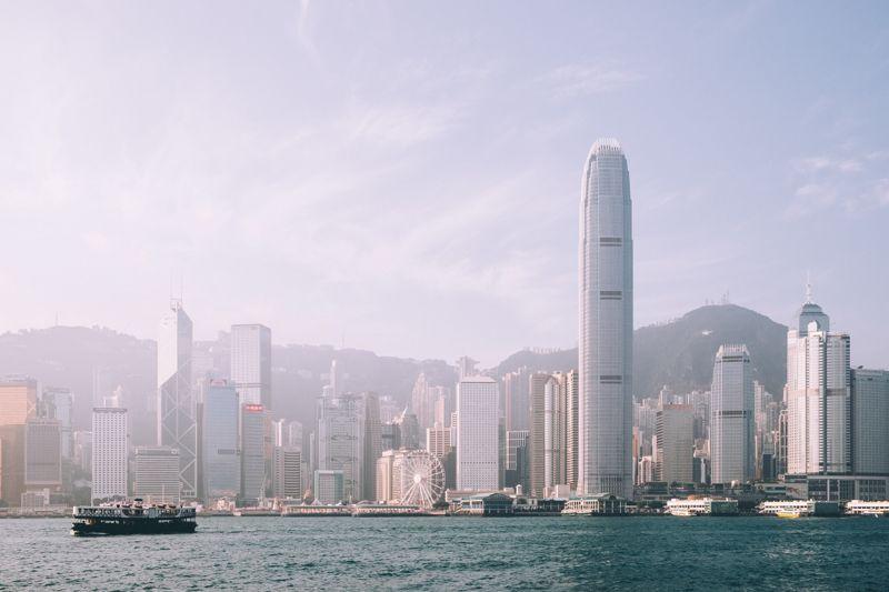 The iconic Hong Kong skyline.